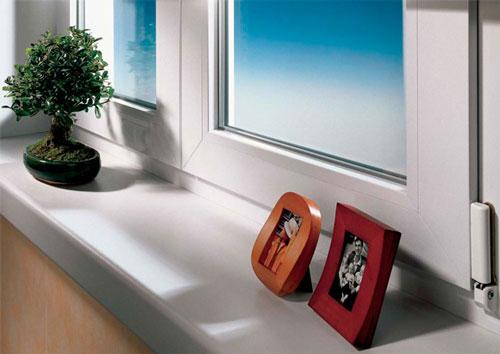 Подоконники из ПВХ для пластиковых окон