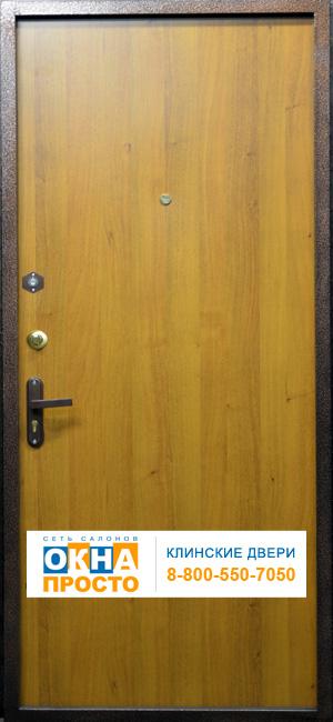 металлические двери с напылением и ламинатом